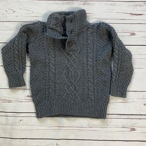 Gap Kid Cable Gray Knit Sweater Size XS/4-5